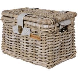 Basil Denton M Bicycle Basket, nature grey